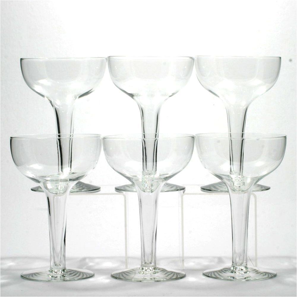 vintage hollow stem saucer champagne glasses 1920s set 6