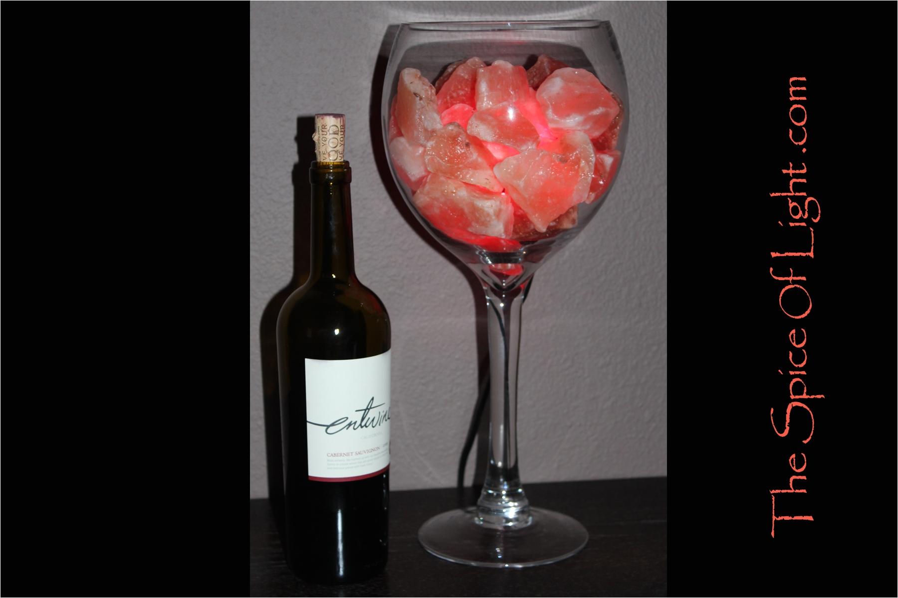 wine glass himalayan salt lamp