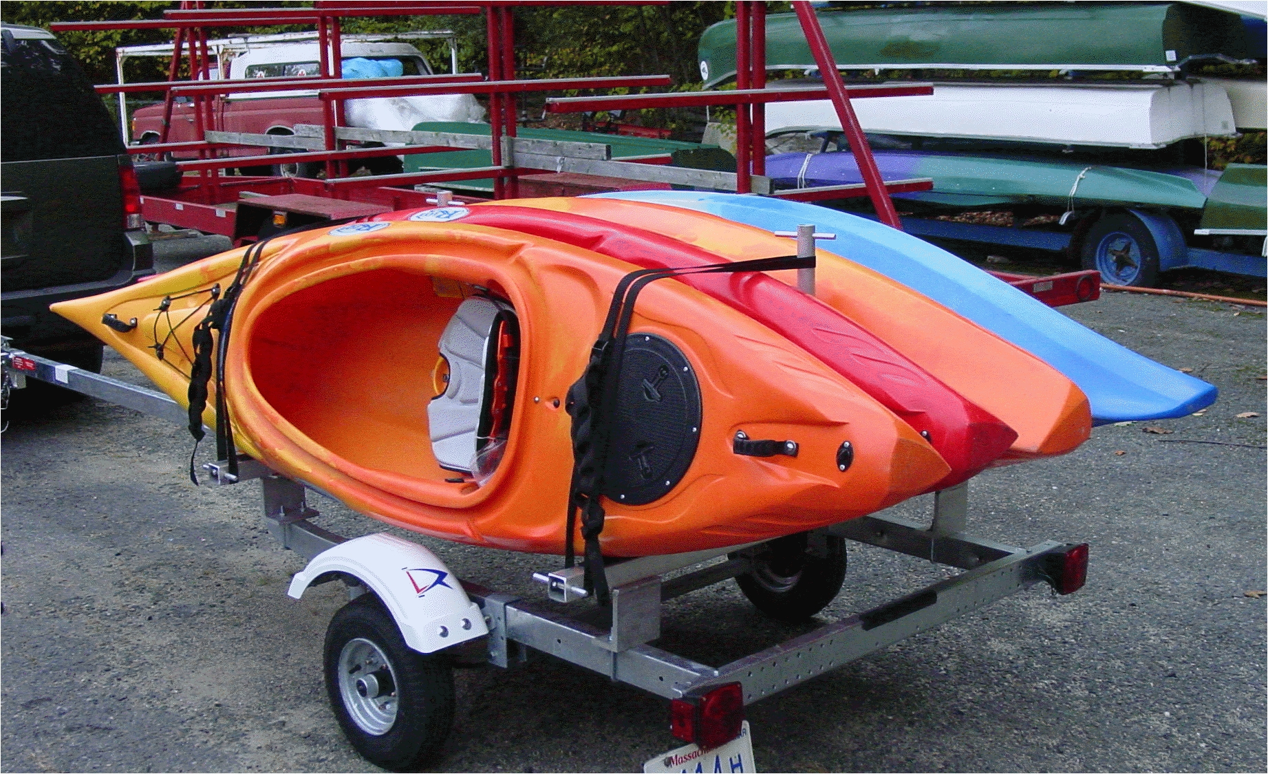 kayak trailer rack single tier 4 kayaks rack kayak 4 kayaks
