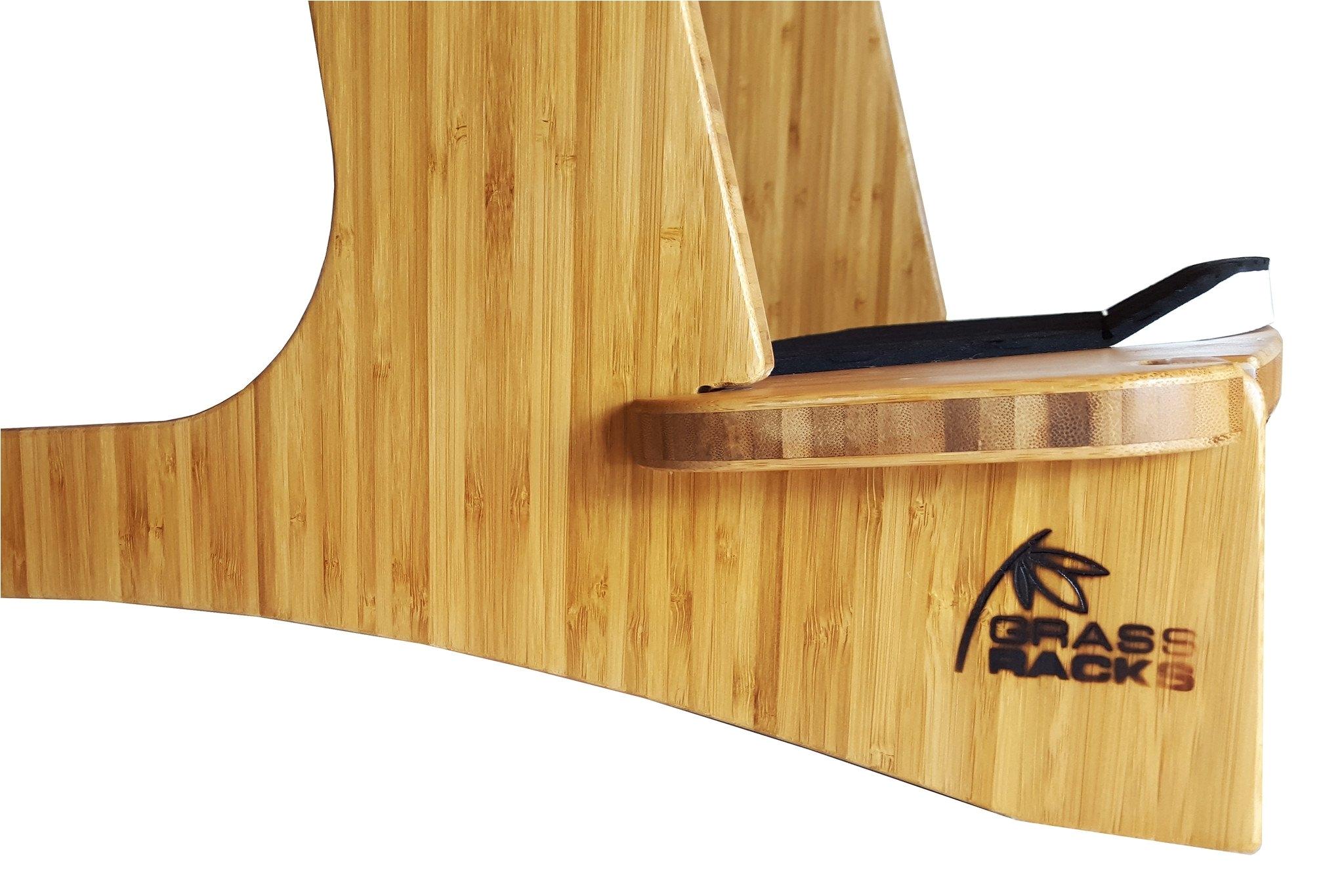 in store paddleboard surf rack by grassracks freestanding surfboard rack with kicker