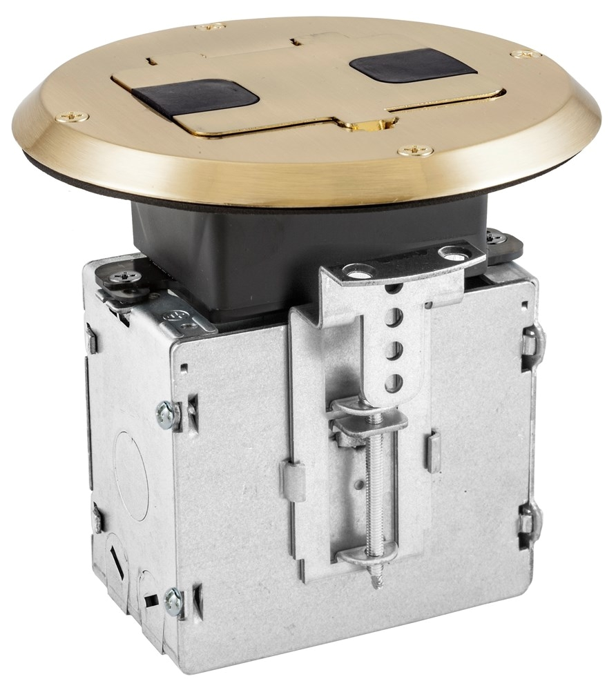 hubbell wiring rf515br hubbell wiring rf515br homeselect netselect reg round floor box solid brass