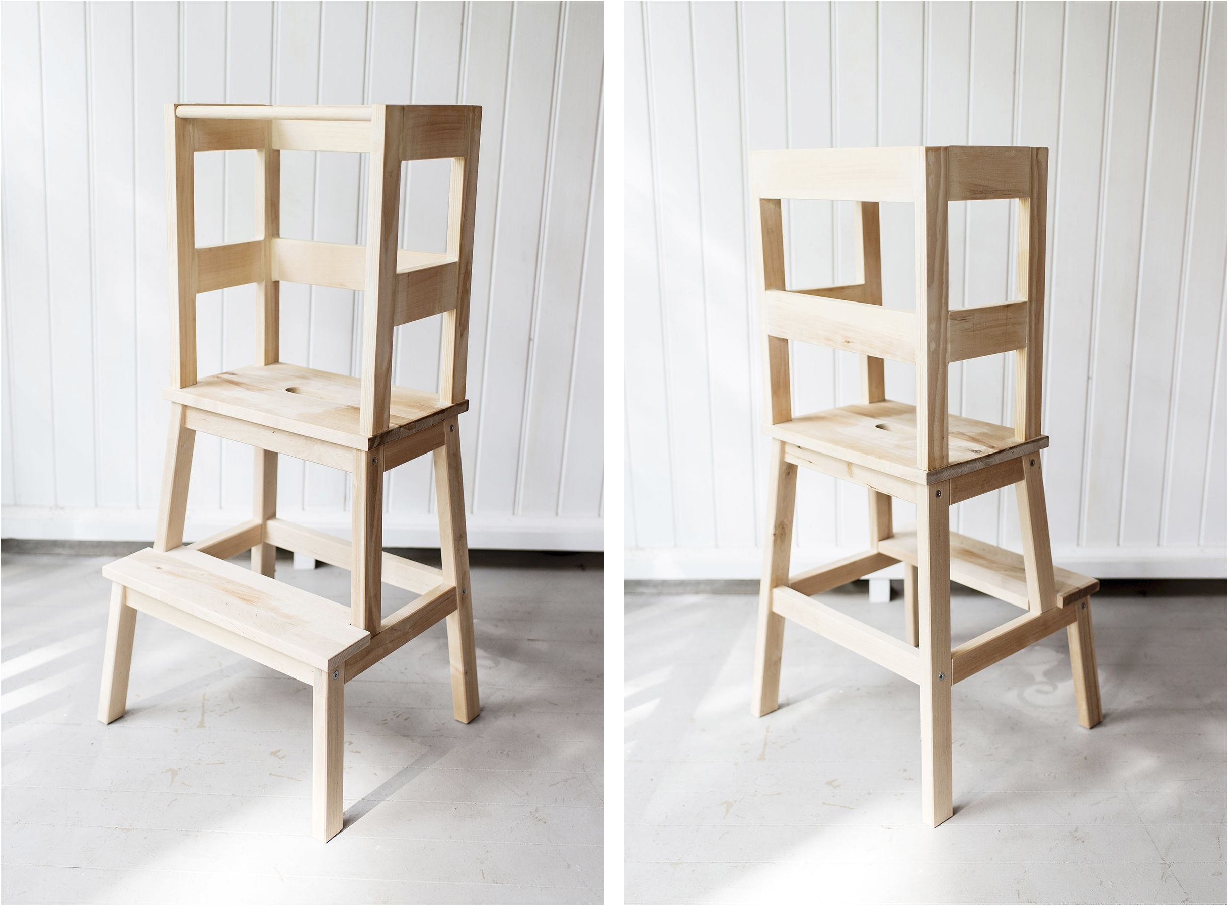 Ikea Childrens Wooden High Chair Ikea Hack toddler Learning tower Using A Bekvam Stool Tutorial
