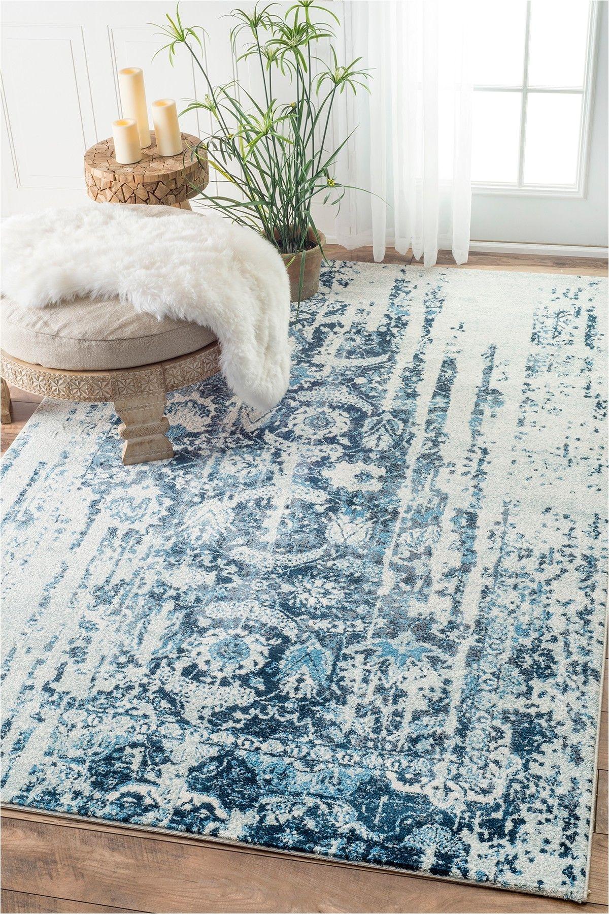 need this nuloom blue distressed ernestina flourish rug