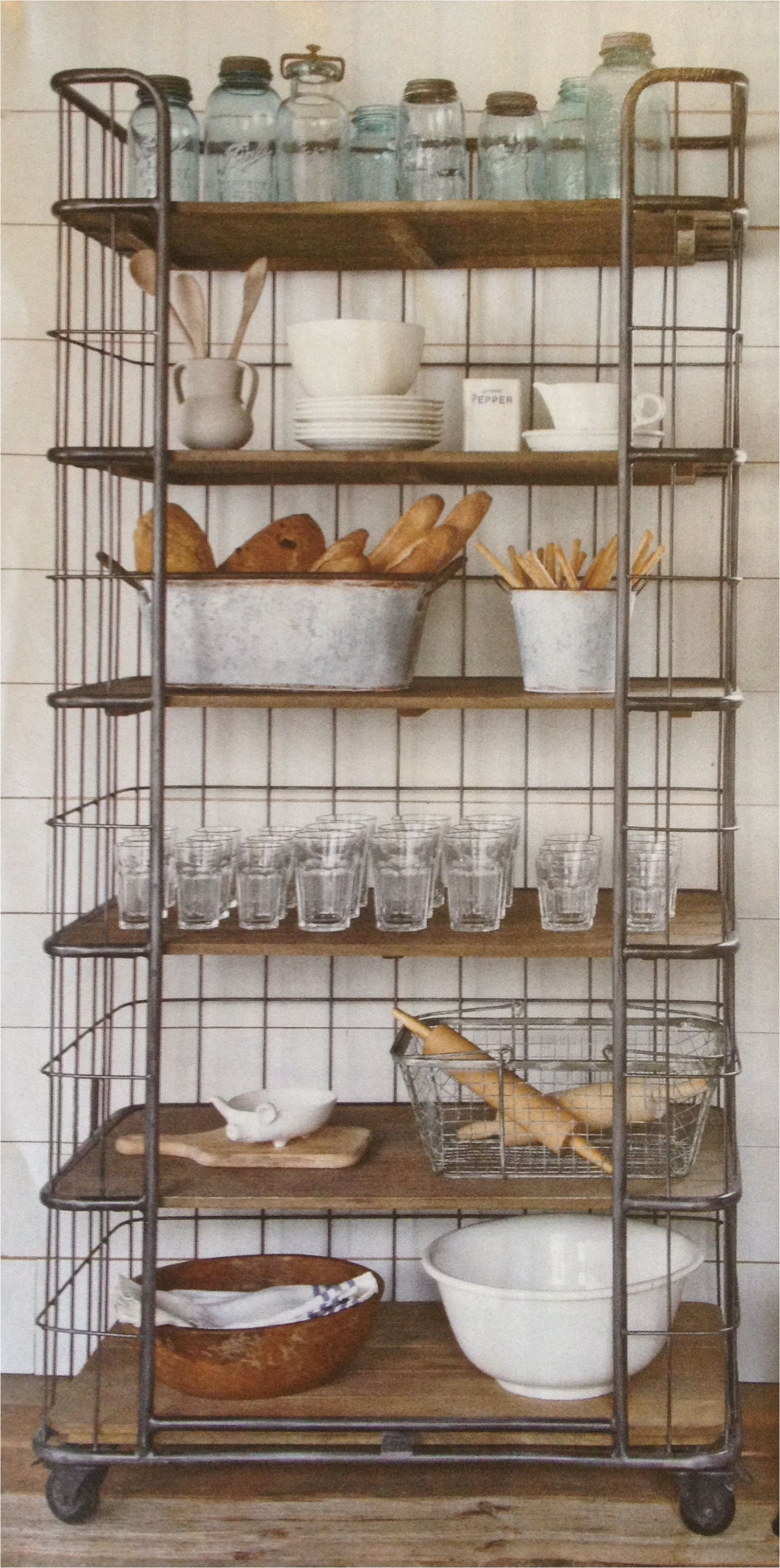 industrial kitchen storage rack clever storage ideas moss cottage