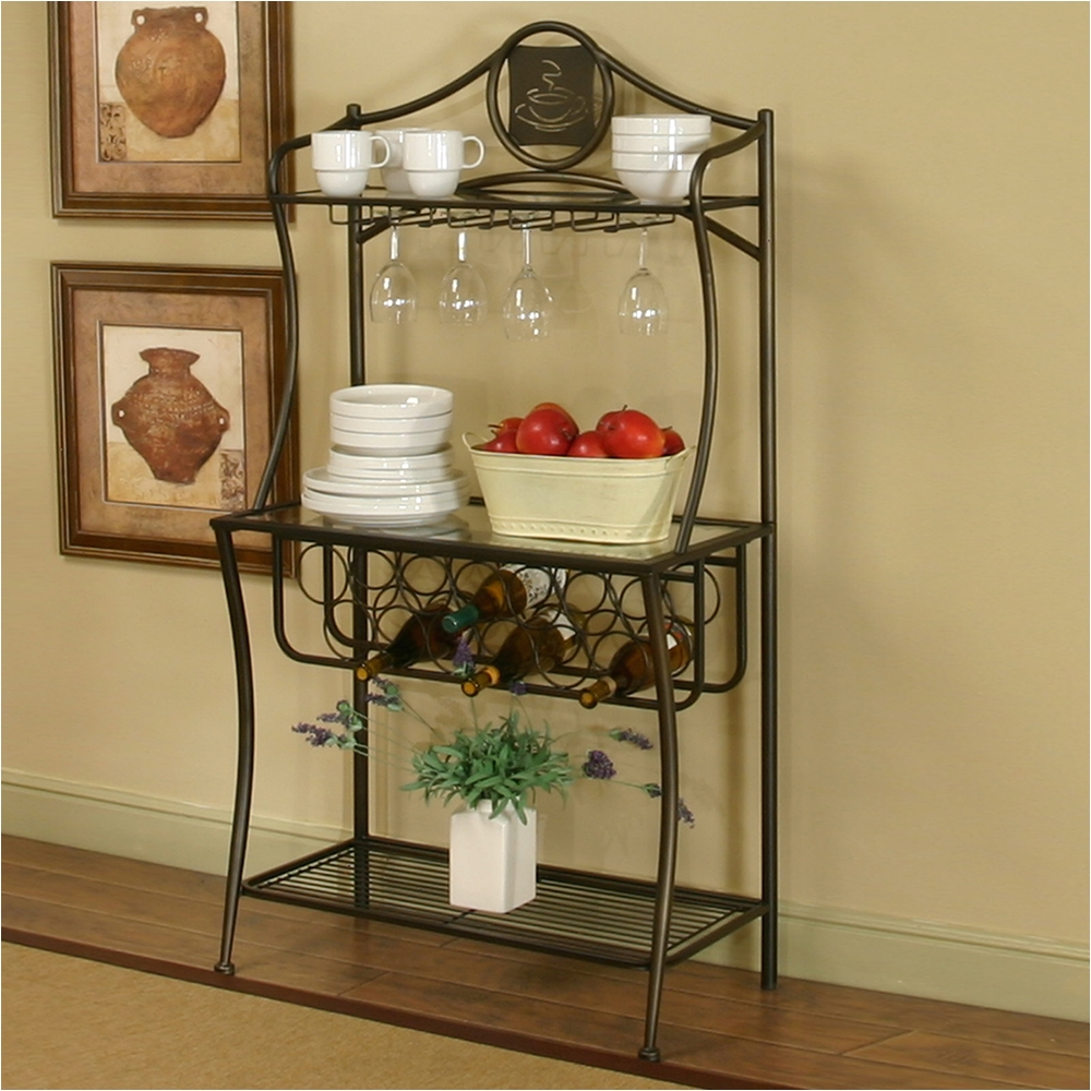 image of rustic bakers rack ikea