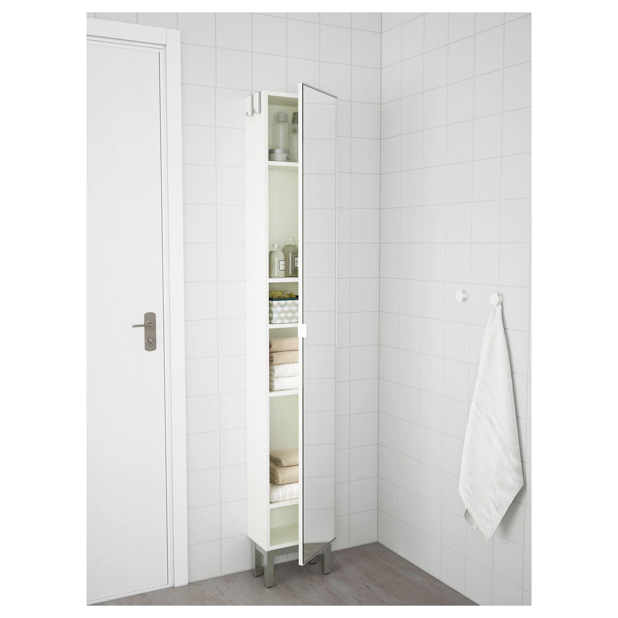 lilla ngen high cabinet with mirror door white ikea