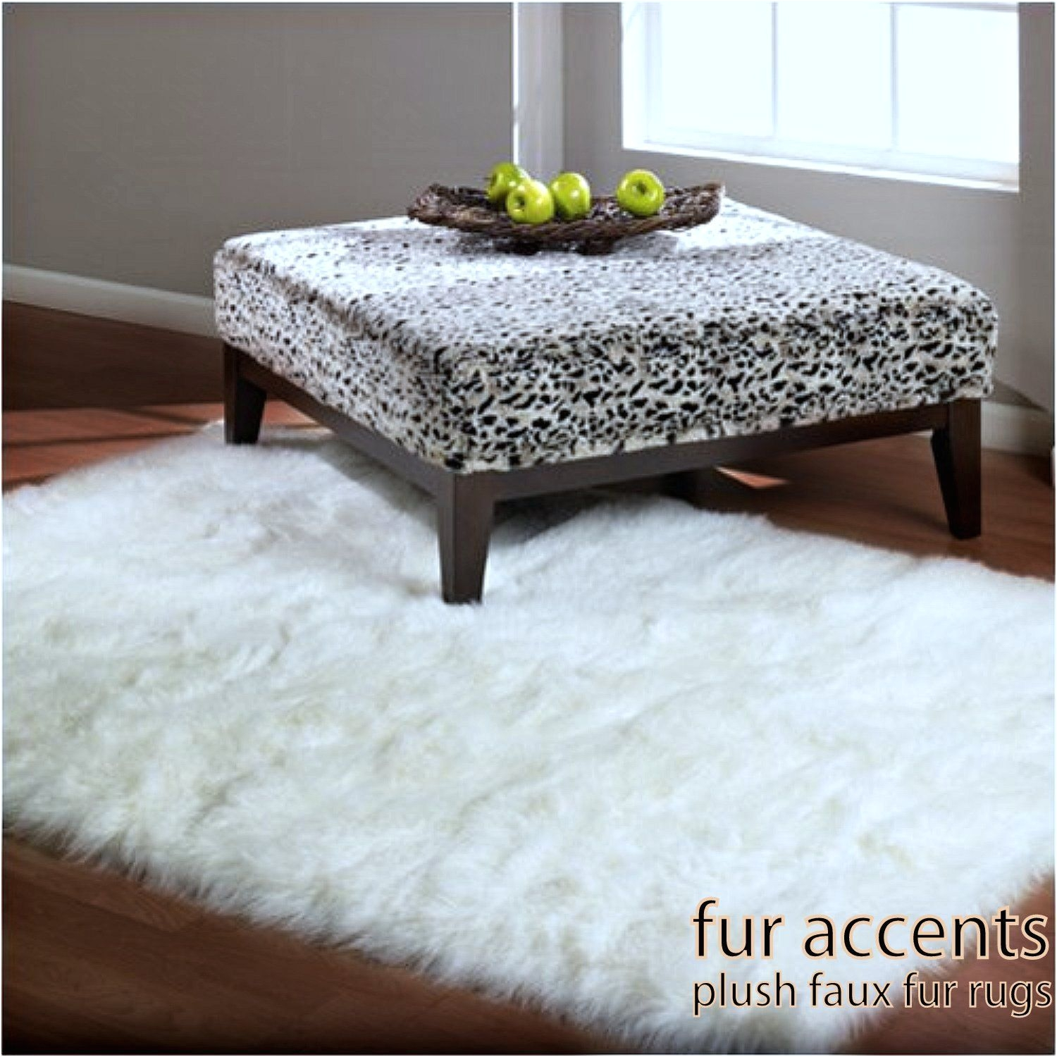 5 faux fur rectangular sheepskin area rug bright white or off white bear