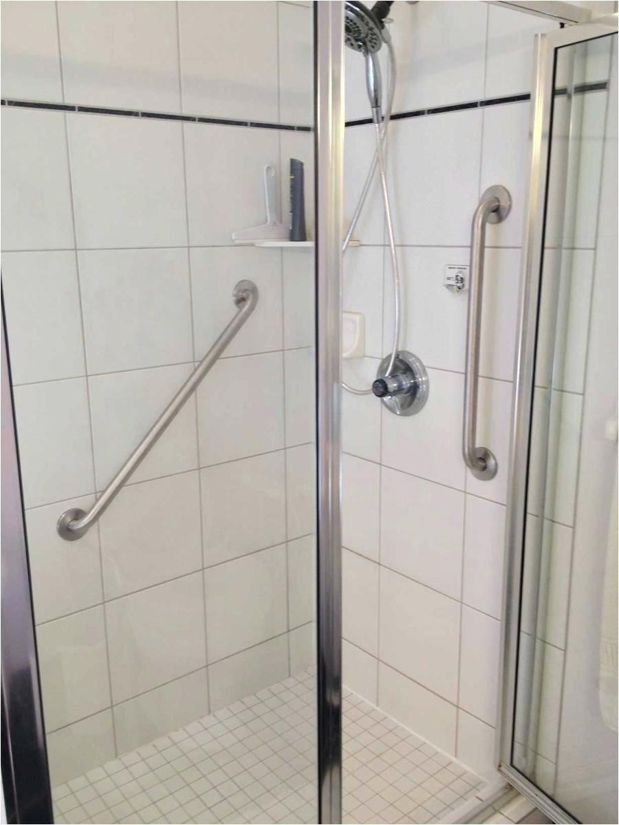 Install Grab Bars In Fiberglass Shower Amazing Handicap Grab Rails ...