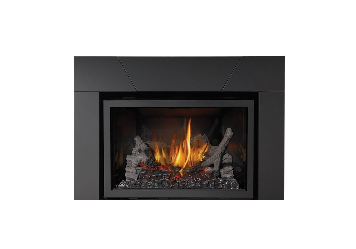 napoleon xir3sb 31000 btu insert direct vent natural gas fireplace with electron fireplace insert natural gas