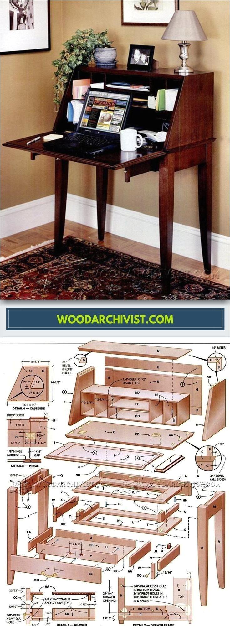 secretary desk plans furniture plans and projects woodarchivist com