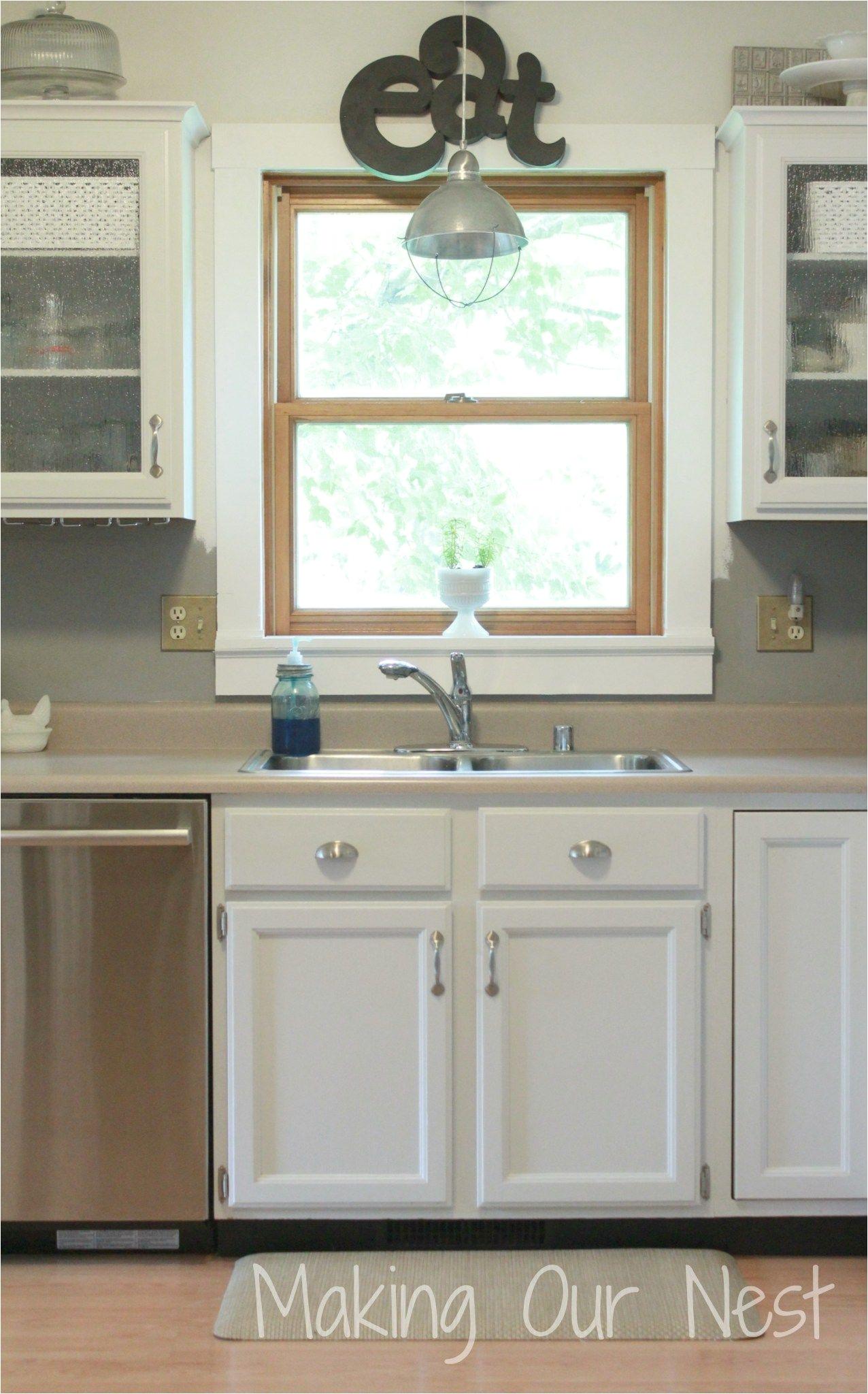 kitchen window ledge white trim kitchen