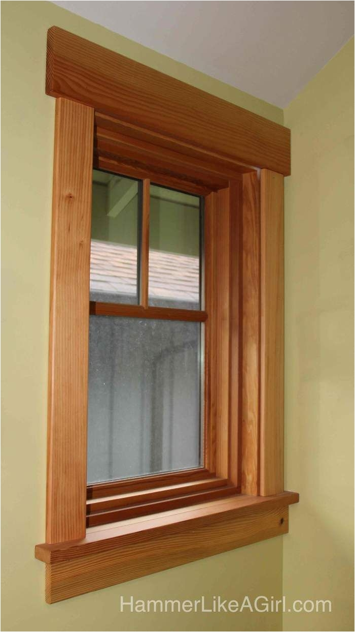 installing craftsman window trim finally hammer like a girl