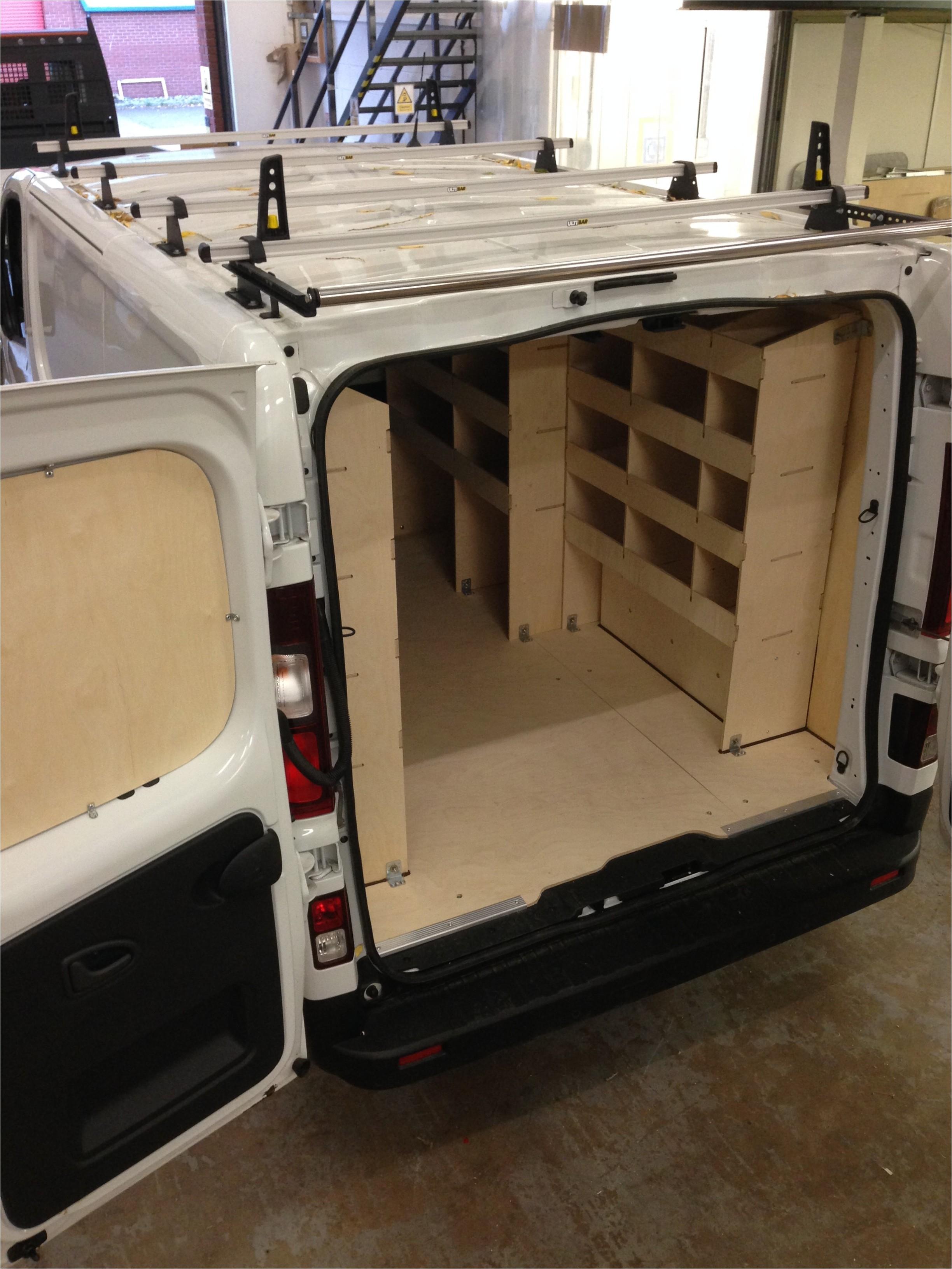 Internal Racking for Vans Van Racking Gallery Van Guard Full Fit