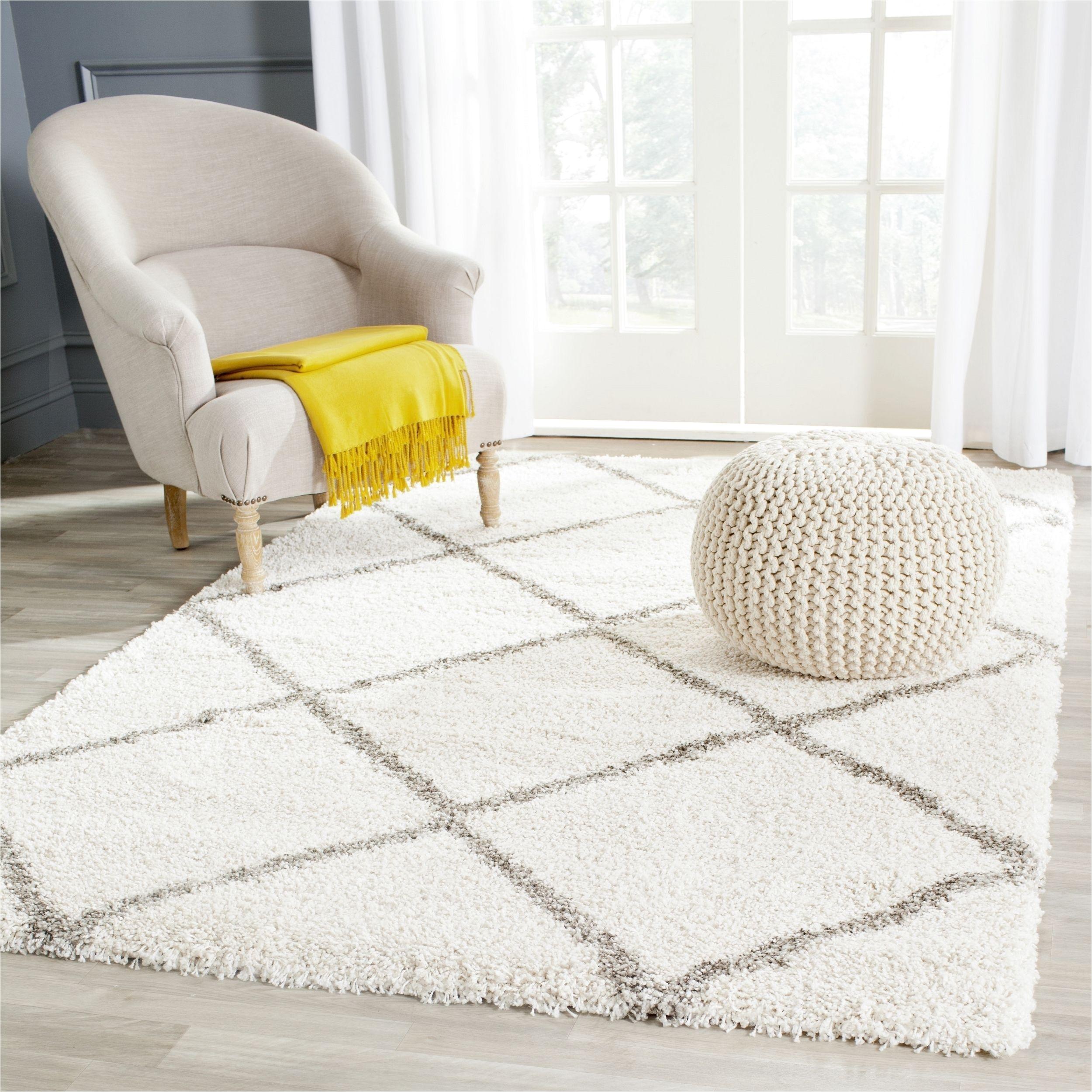 safavieh hudson diamond shag ivory grey rug 5 square sgh281a