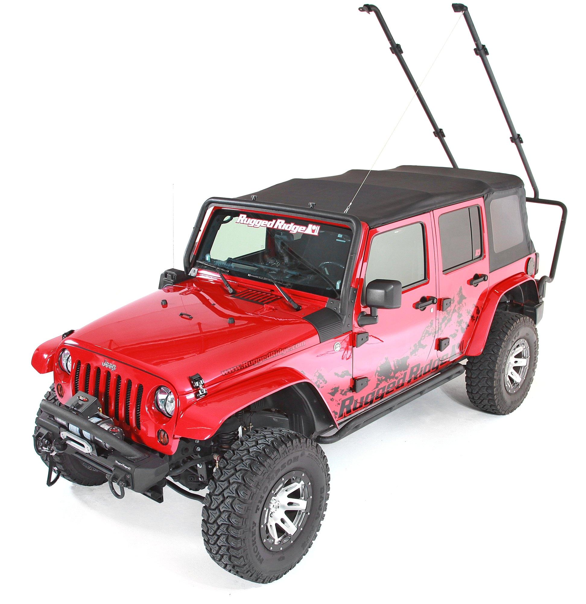 rugged ridge 11703 02 sherpa rack for 07 18 jeep wrangler unlimited jk 4 door quadratec