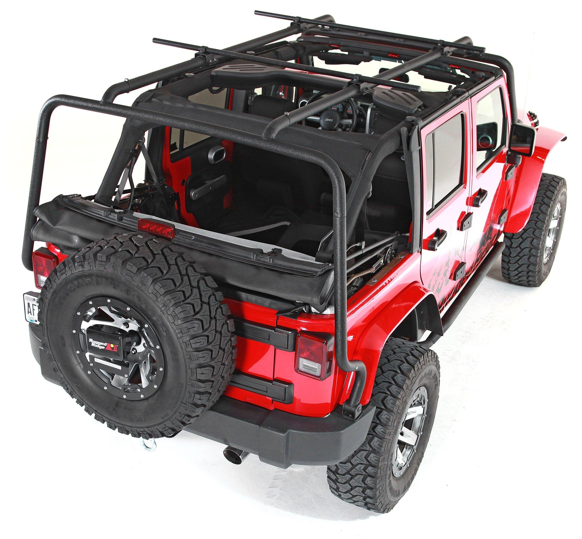 Jeep Jk Roof Rack 4 Door Rugged Ridge 11703 02 Sherpa Rack for 07 18 Jeep Wrangler Unlimited