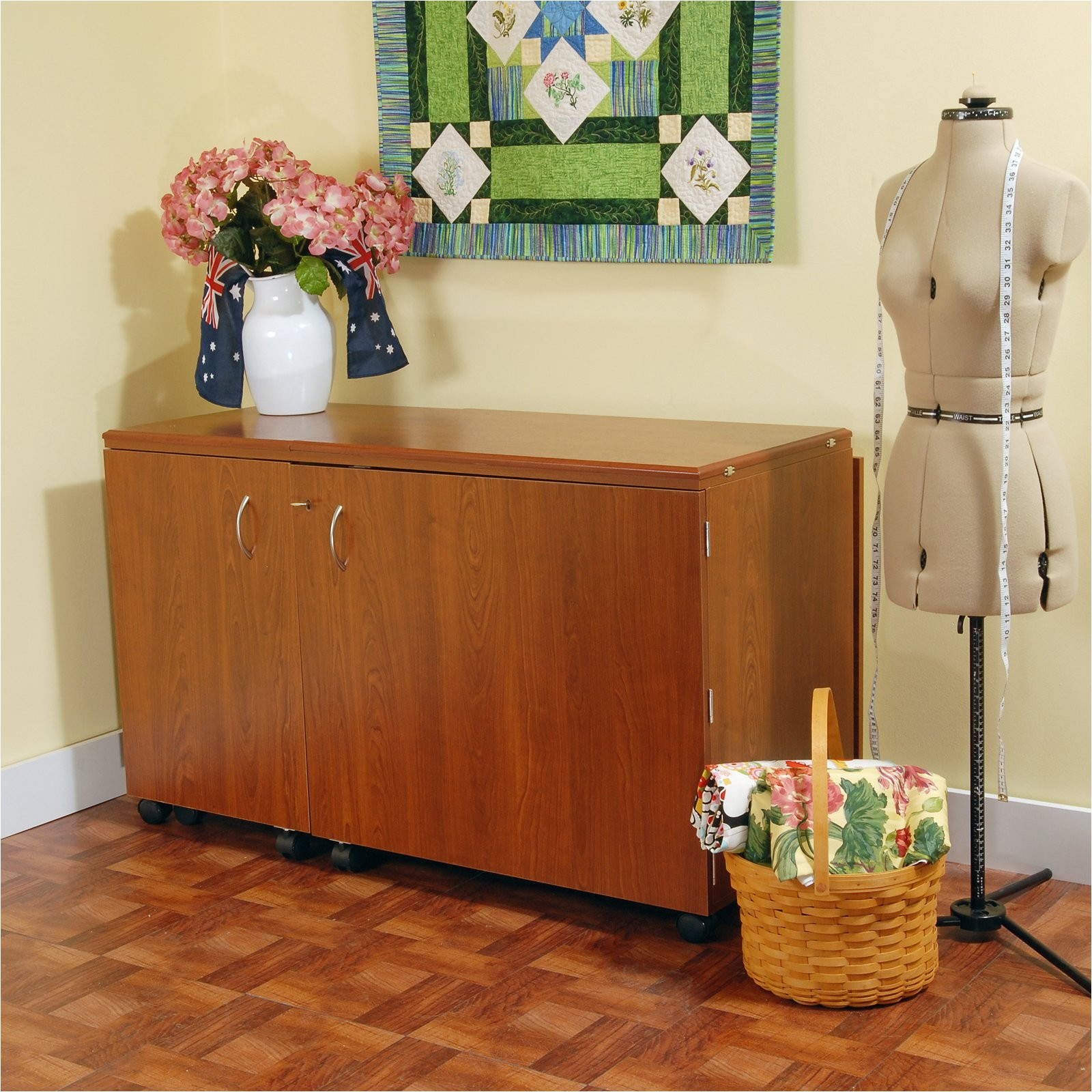 kangaroo kabinets aussie sewing cabinet with lift mechanism walmart com