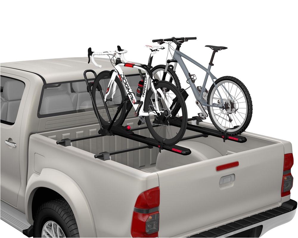 yakima bedrock bike rack the proprietary yakima bedrock pickup truck bed rack