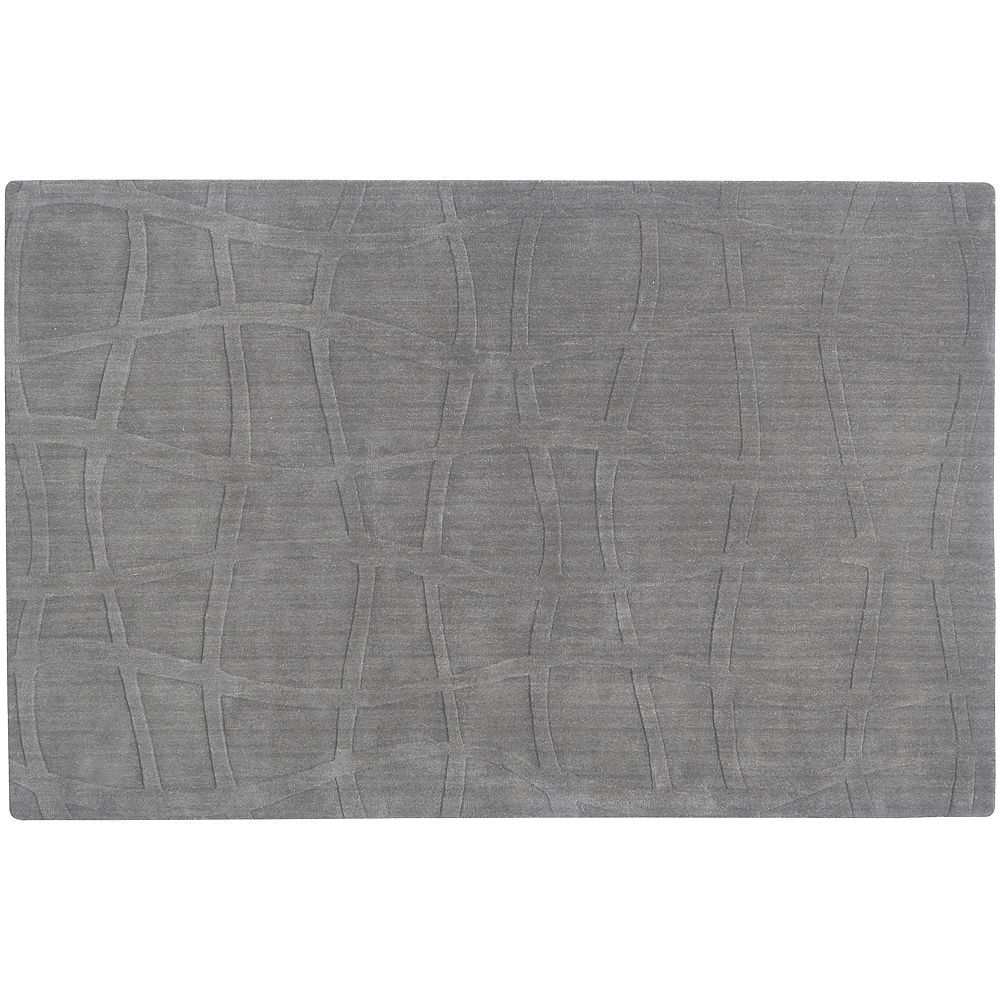 surya sculpture geometric rug 24 x 36 grey