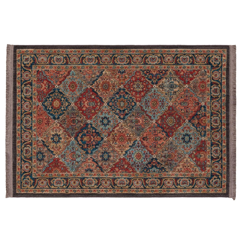 mohawka home lexington multi panel ii framed floral rug