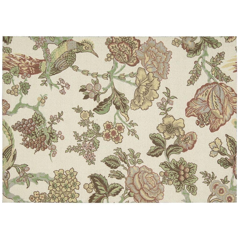 waverly global awakenings floral rug green
