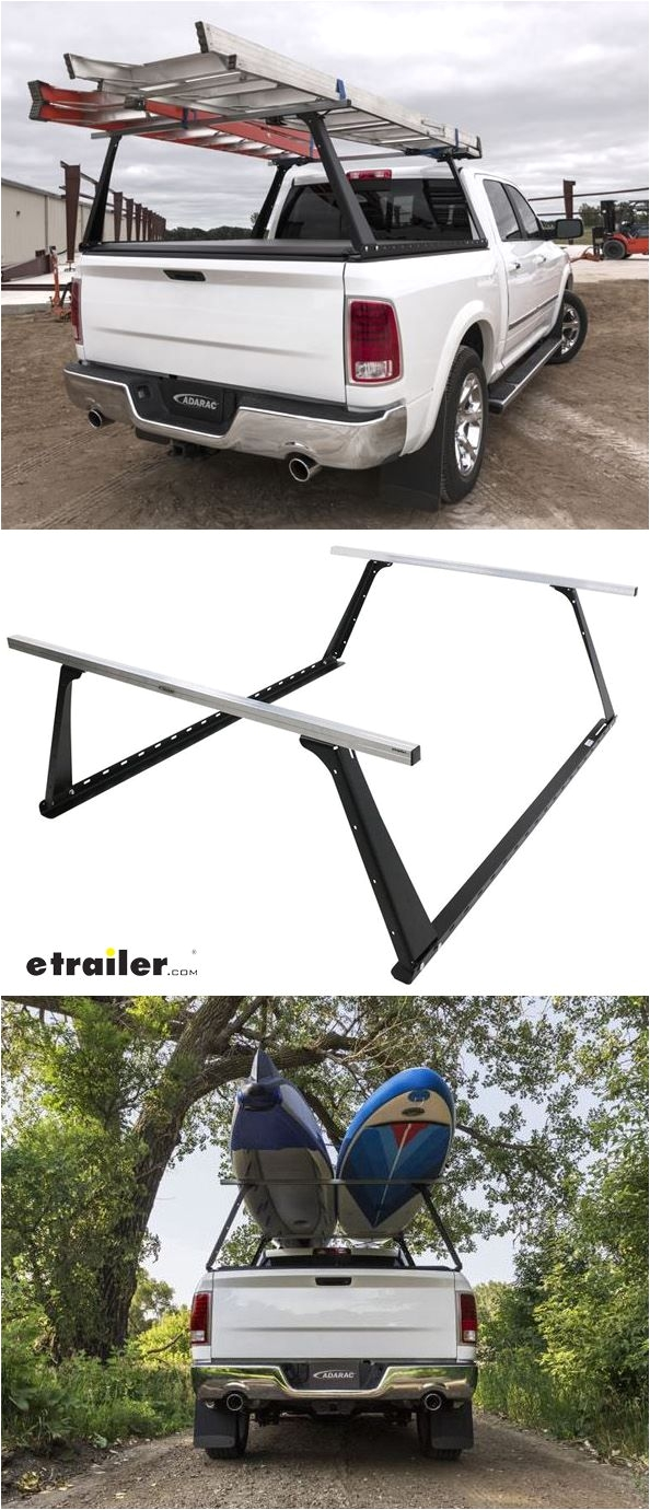 Ladder Rack for Cargo Trailer Adarac Custom Truck Bed Ladder Rack Steel with Aluminum Crossbars