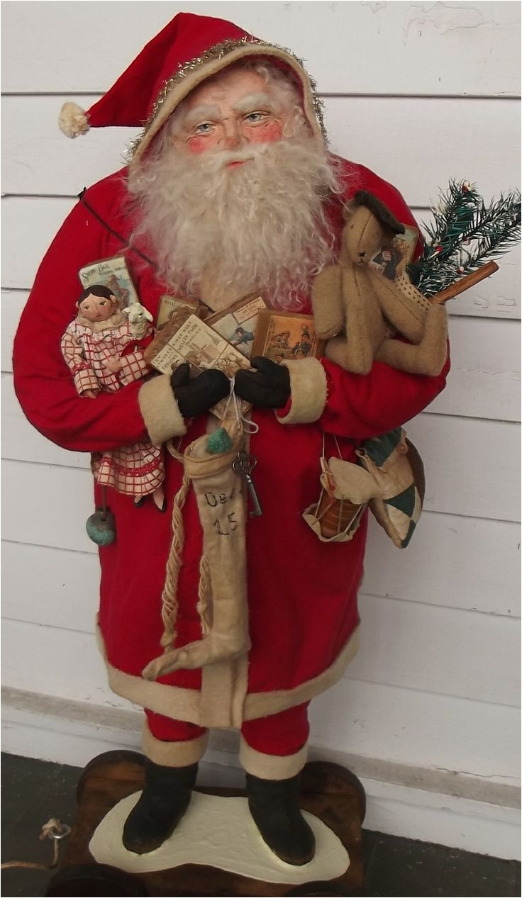 handmade santa claus toys doll teddy bear by kim sweet kim s klaus
