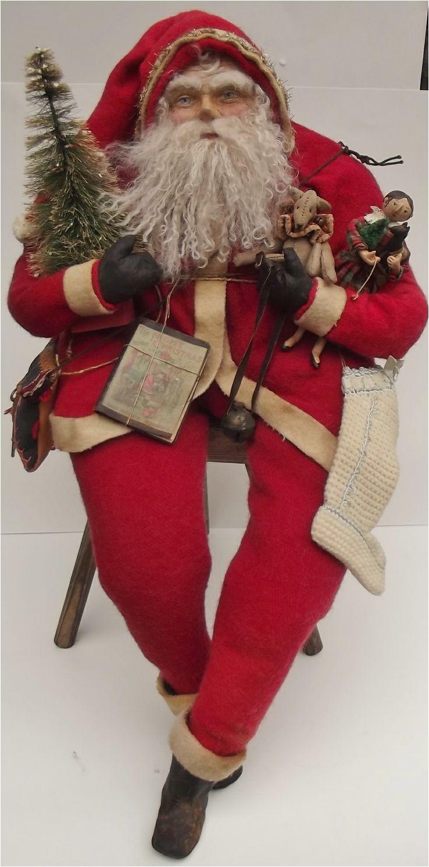 handmade santa claus doll teddy bear by kim sweet kim s klaus hand
