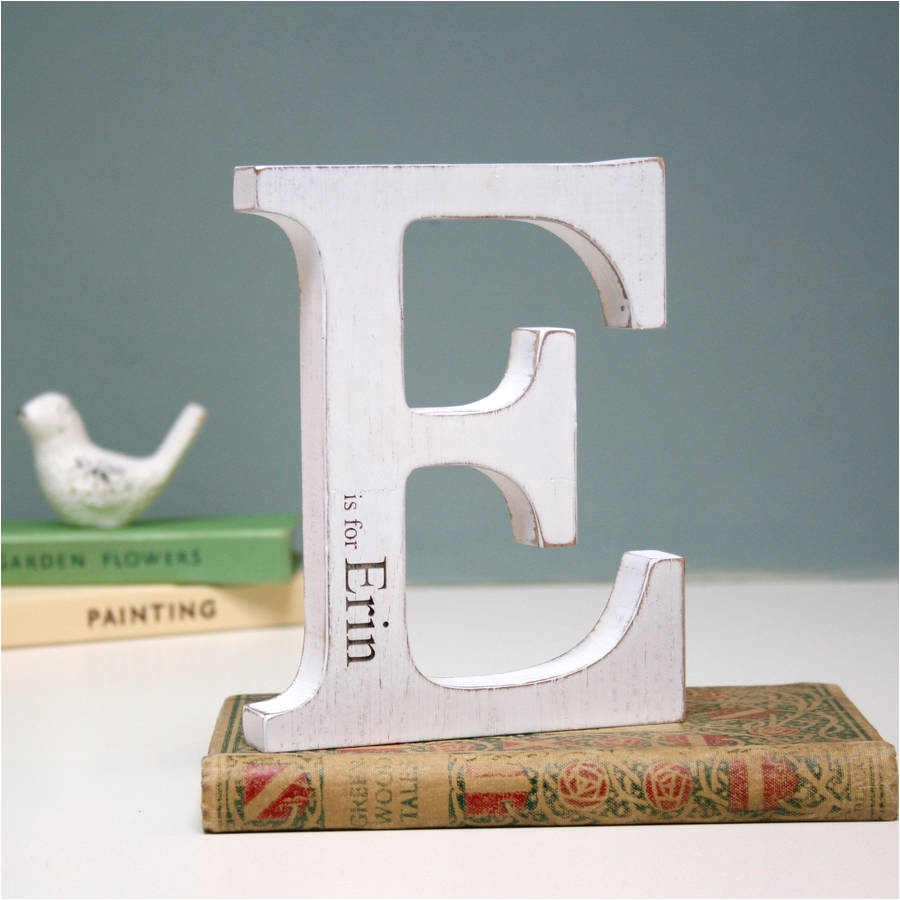 personalised initial white letter children s parties