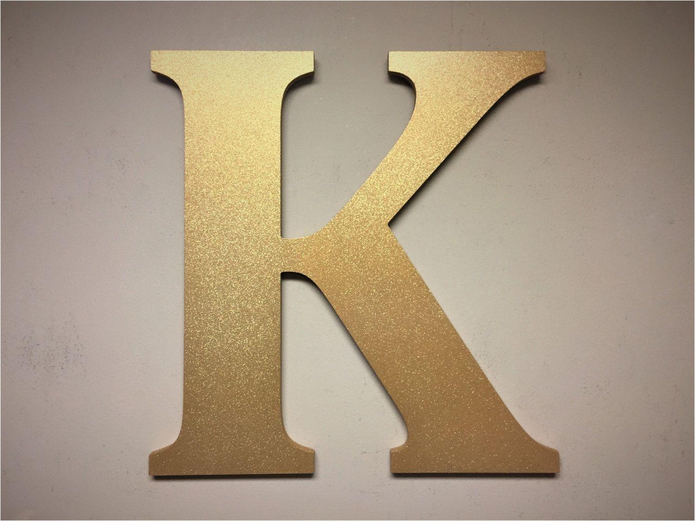 gold sparkel letter k large free standing monogram letter home letter decor wall