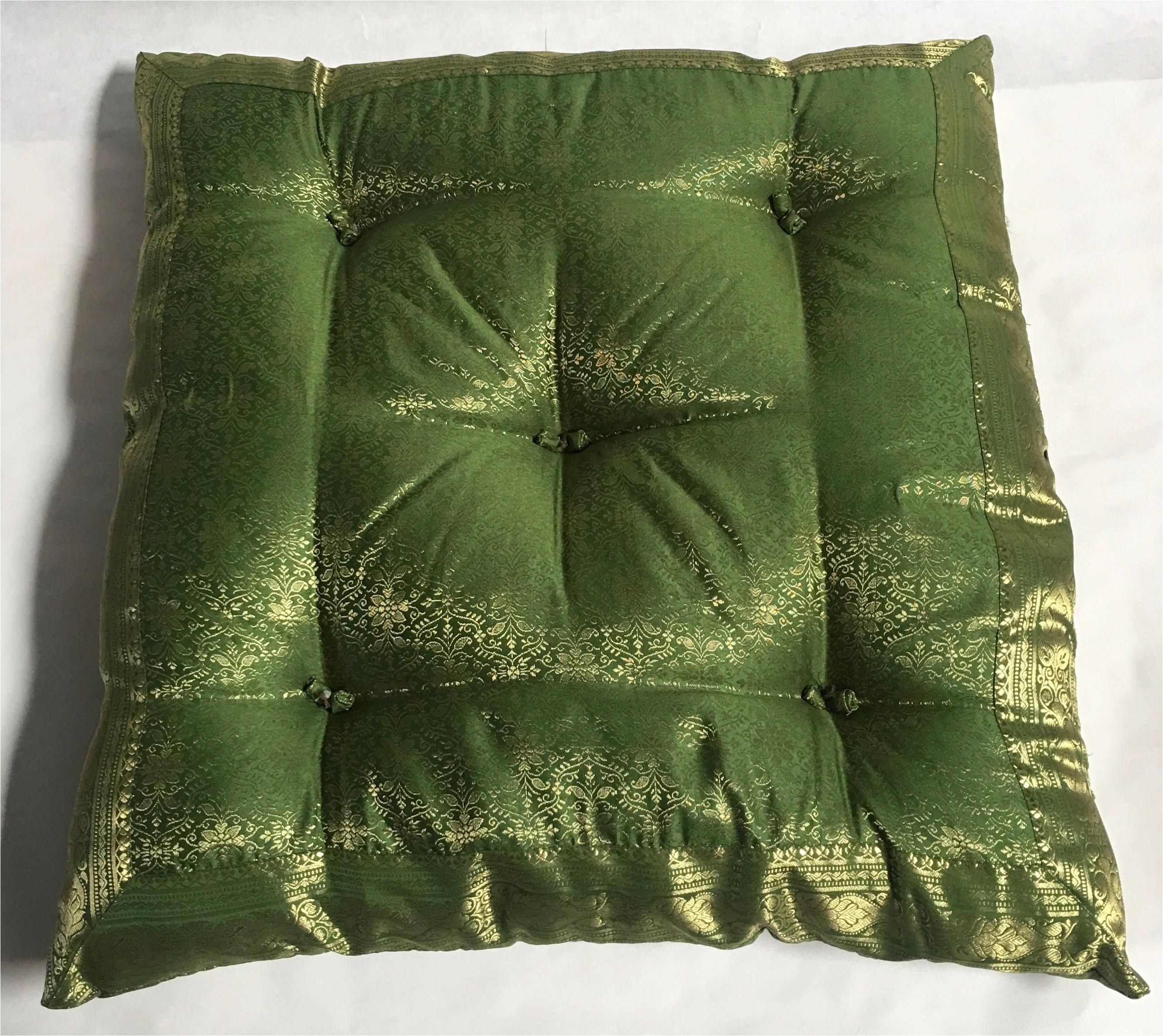 green floor cushion