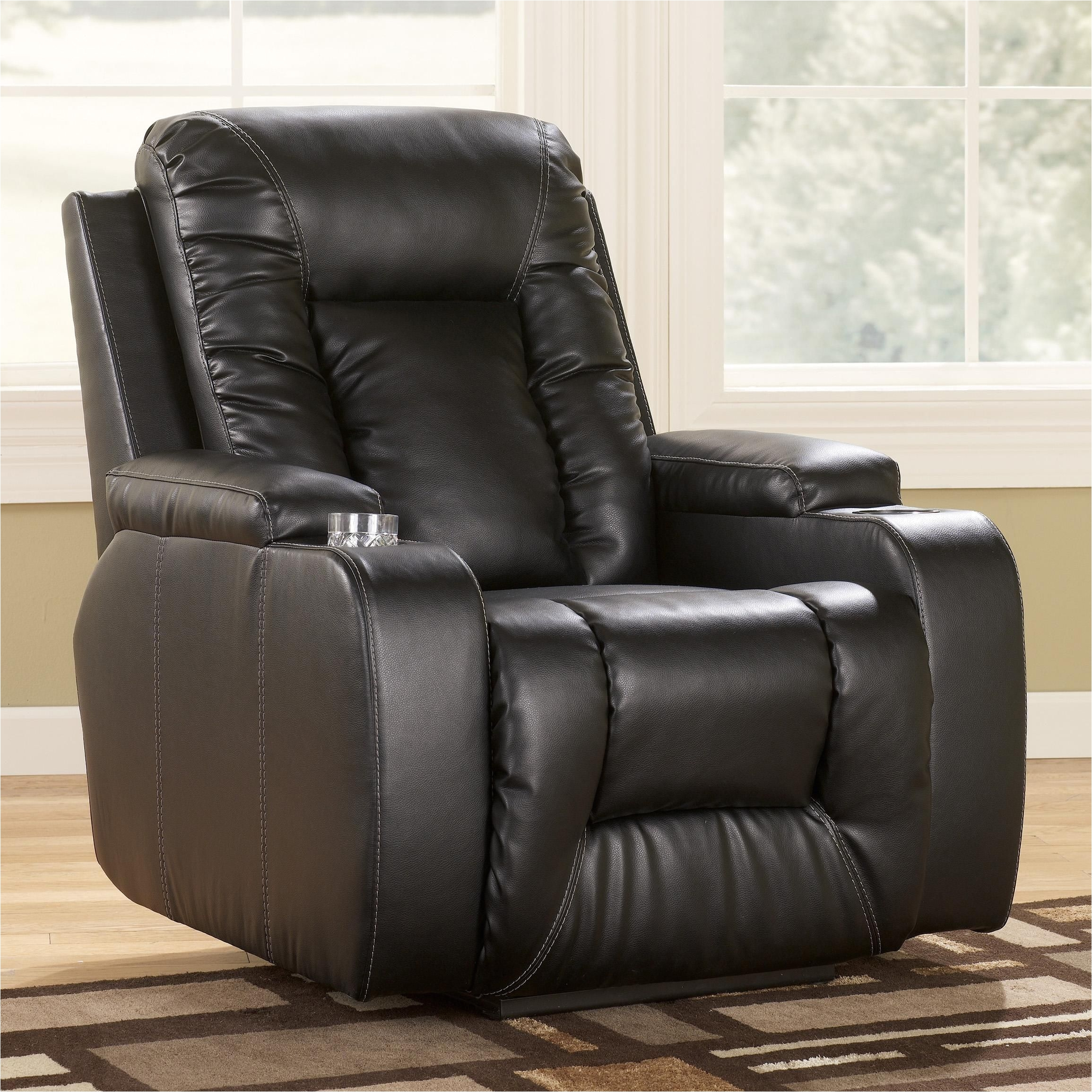 Lay Flat Power Recliner Chairs Matinee Durablend Eclipse Contemporary Recliner with Power by