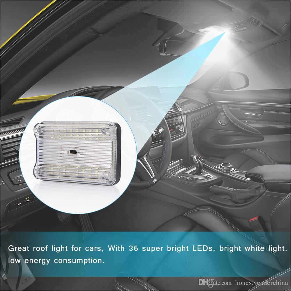 36 smd auto car dome led light ceiling interior rectangular white ceiling lamp for 12v cars led light auto led light automotive from honestvenderchina