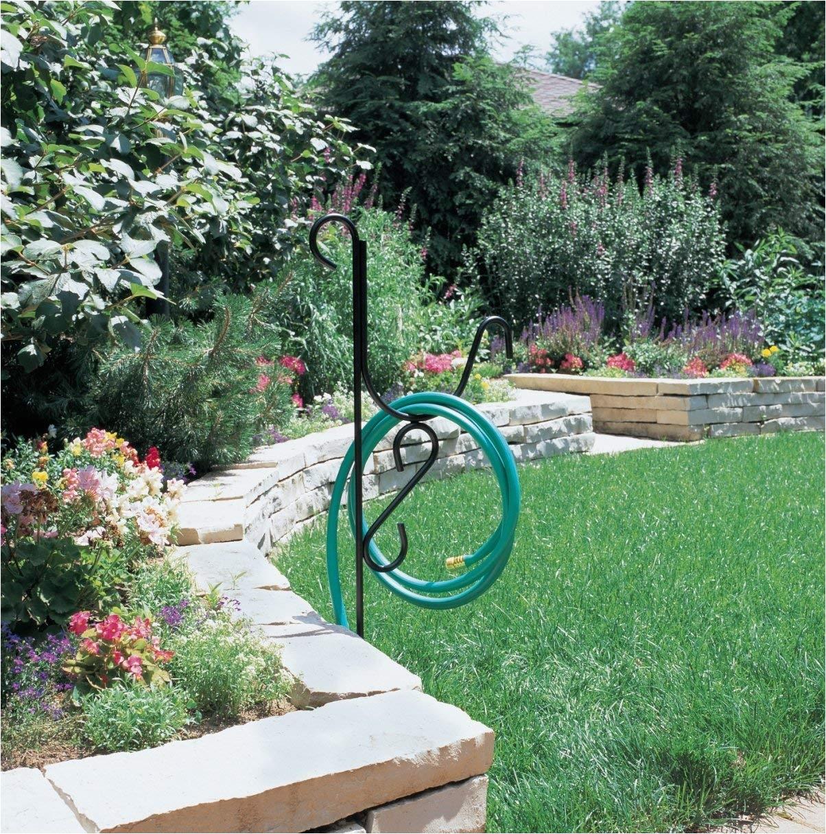 liberty garden decorative mediterranean hose butler stand amazon com panacea 89023 garden hose stand black plant - Liberty Garden