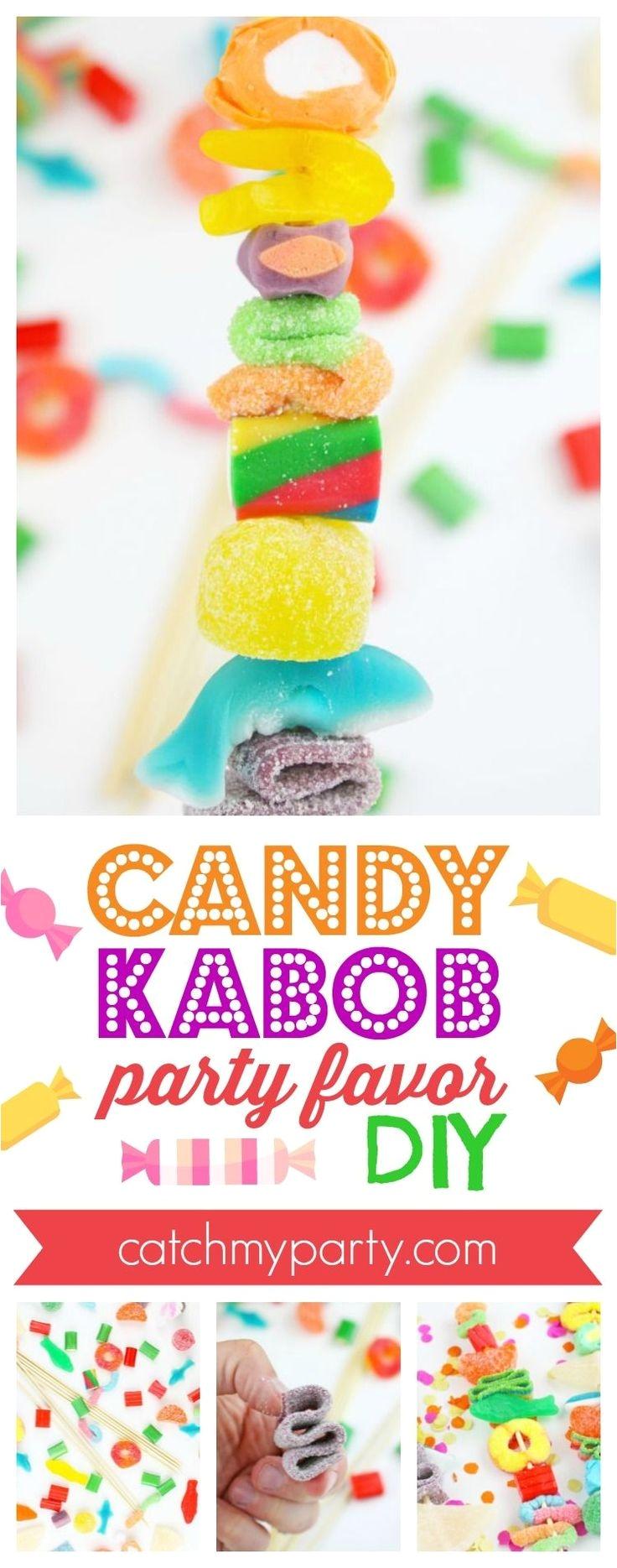candy kabob party favor catchmyparty com catchmyparty partyfavor candy candybirthdayparty