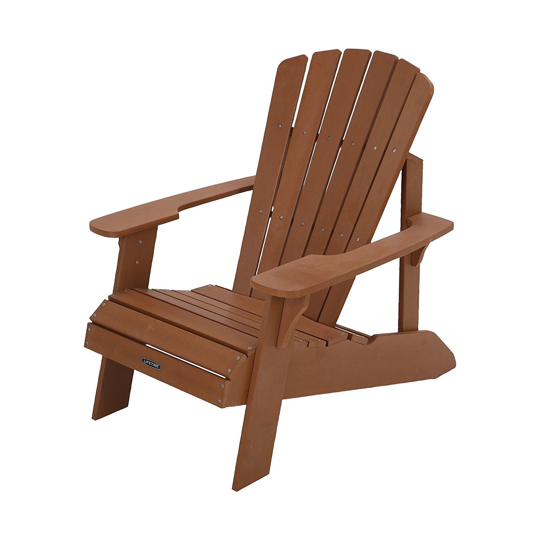 Lifetime Plastic Adirondack Chairs Faux Wood Patio Chairs Unique