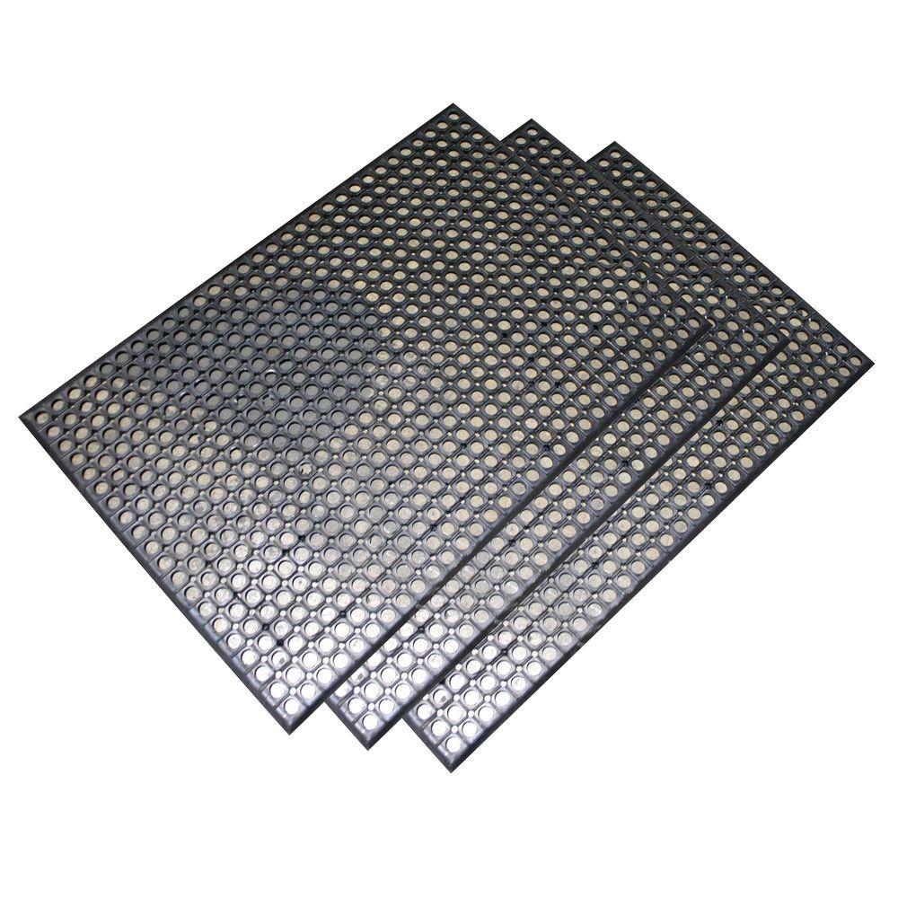 buffalo tools heavy duty 24 in x 36 in rubber floor mat in