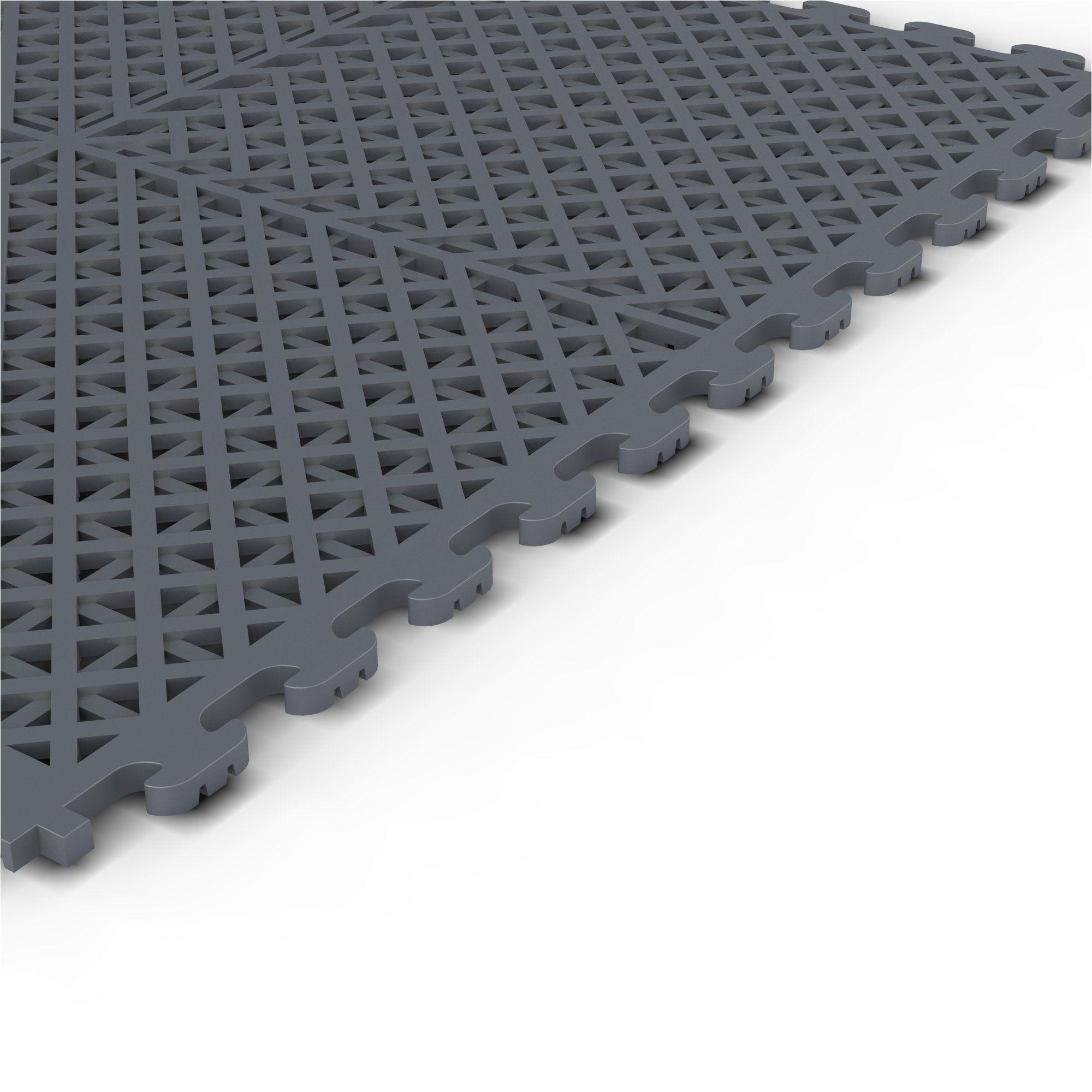 norsk stor nsmpvn6dg vented multi purpose pvc flooring dove gray 6 pack rubber floor coverings amazon com