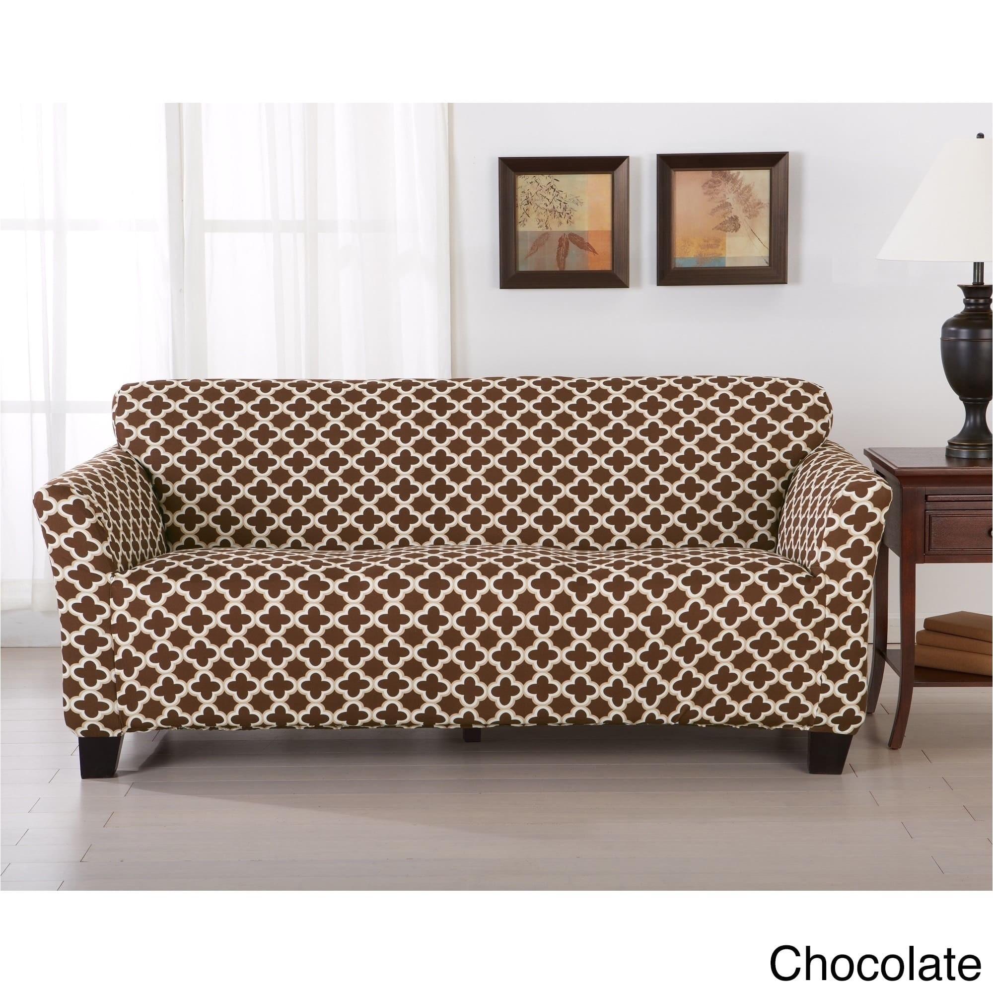 Ll Bean sofa Slipcover Shop Home Fashion Designs Brenna Collection Trellis Print Stretch