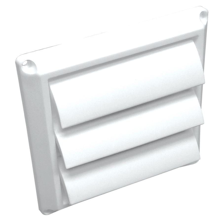 lambro 4 in plastic louvered dryer vent cap