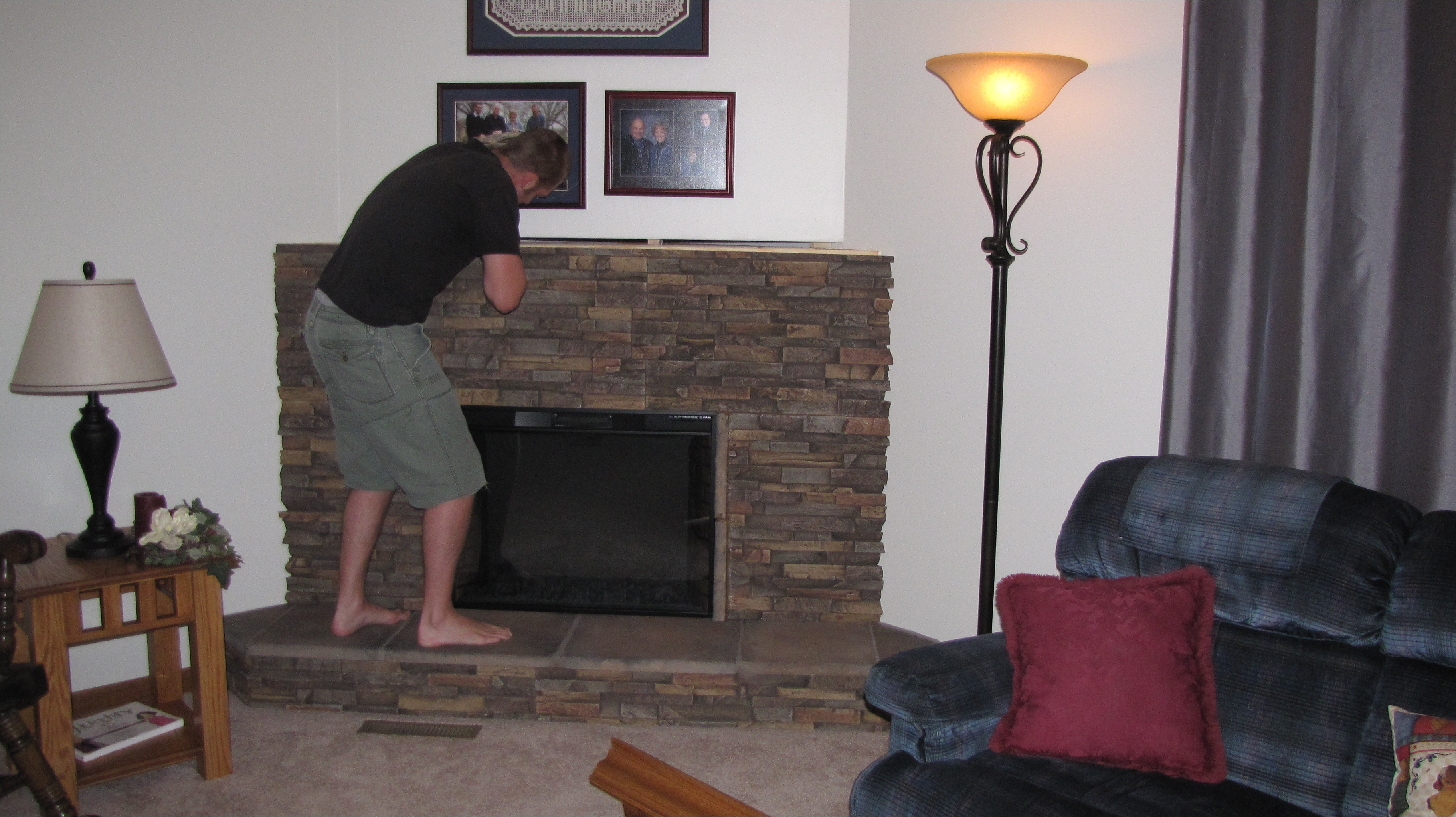 decorating gas fireplace lowes faux stone genstone lowes