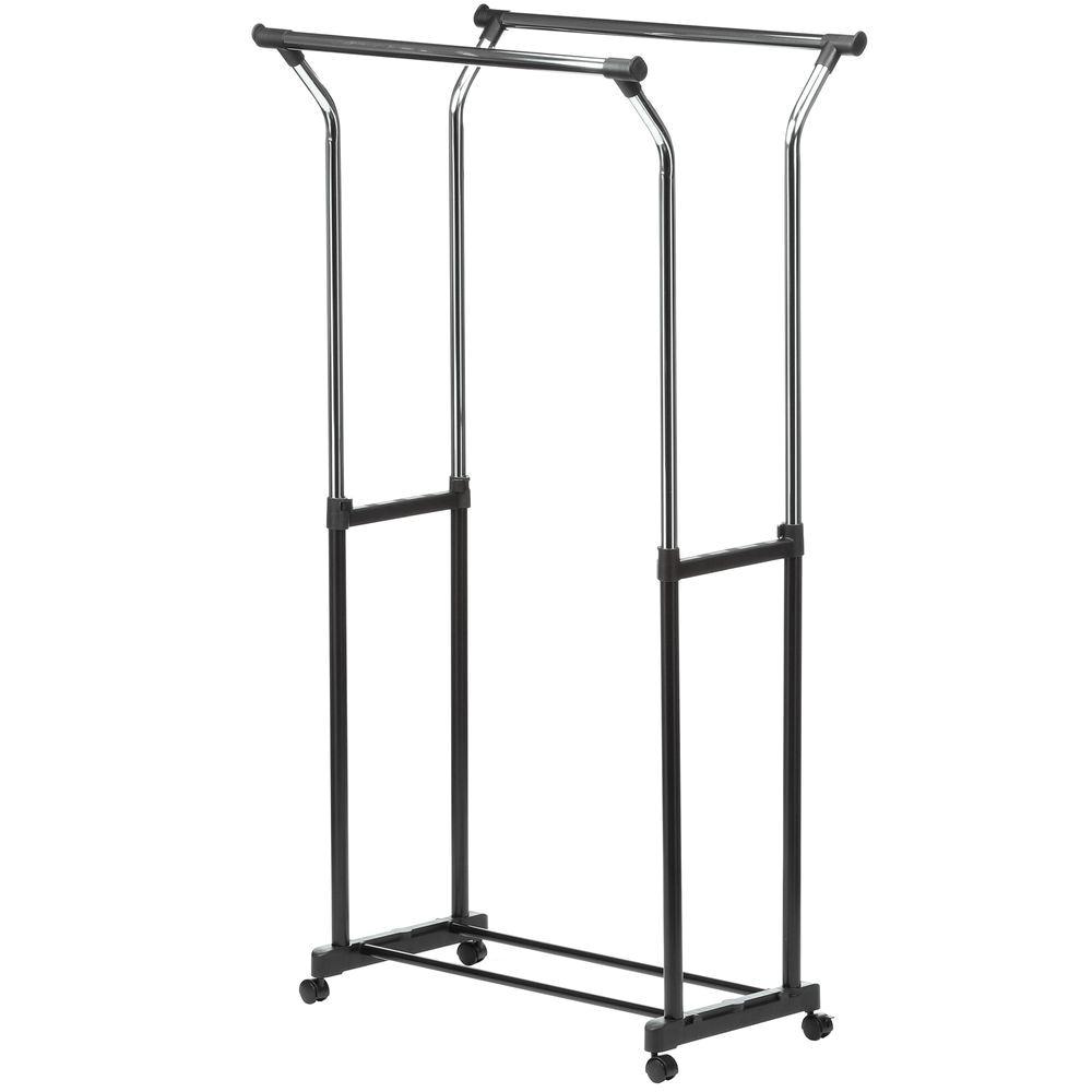 black chrome honey can do garment racks portable wardrobes gar 01119 64 1000y wardrobe rolling rack