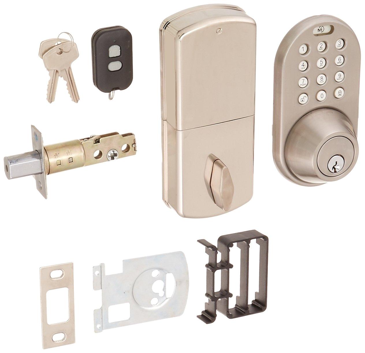 get quotations a milocks xf 02sn digital deadbolt door lock with keyless entry via remote control and keypad