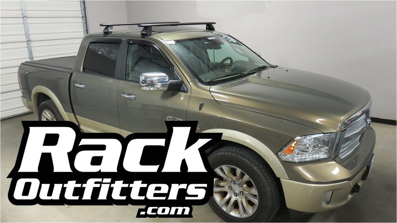 dodge ram 1500 with rhino rack 2500 vortex roof rack cross bars youtube