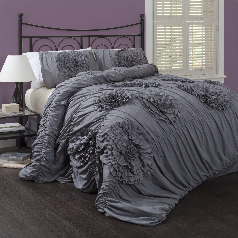 lush decor serena 3 piece comforter set king white