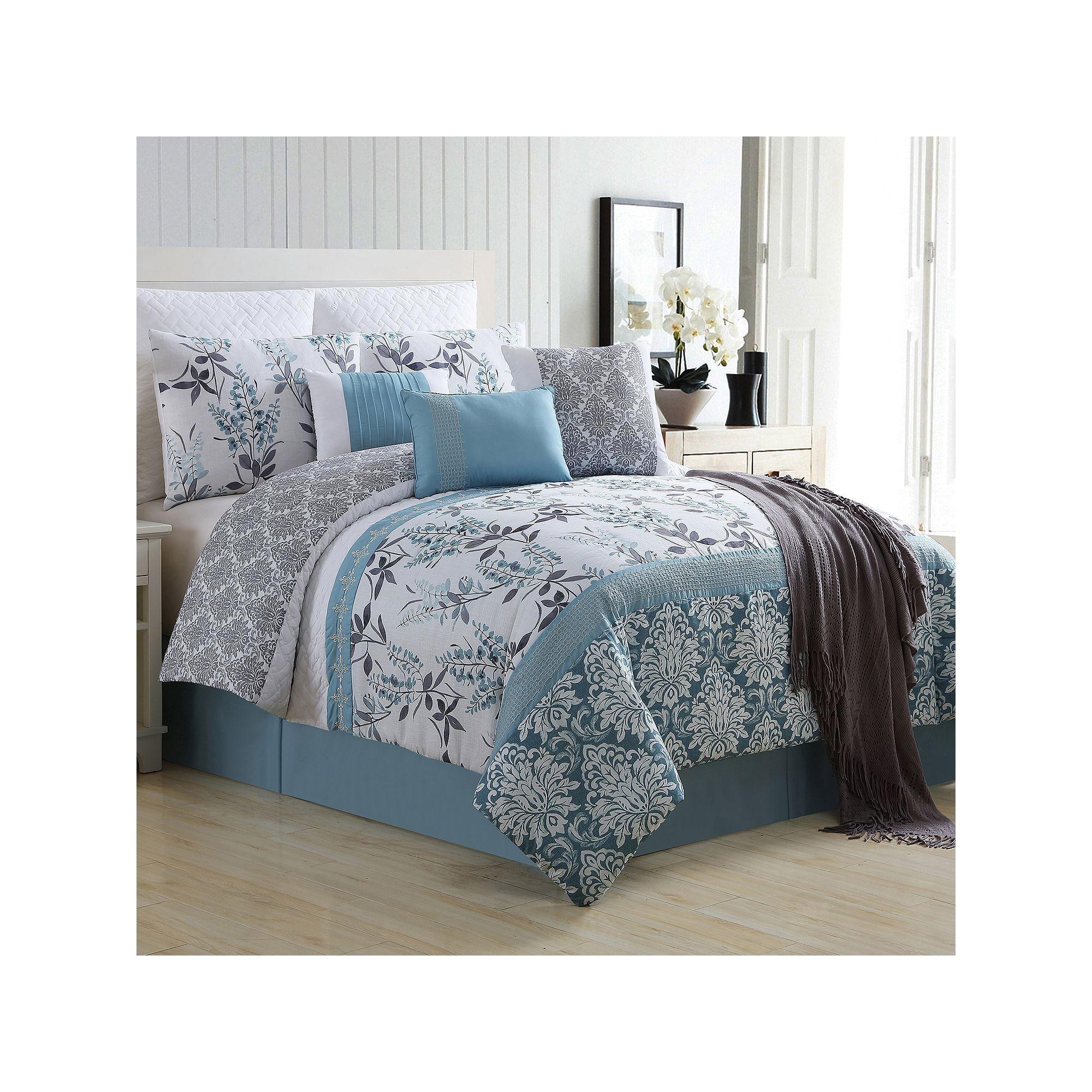 vcny 10 piece ashley comforter set