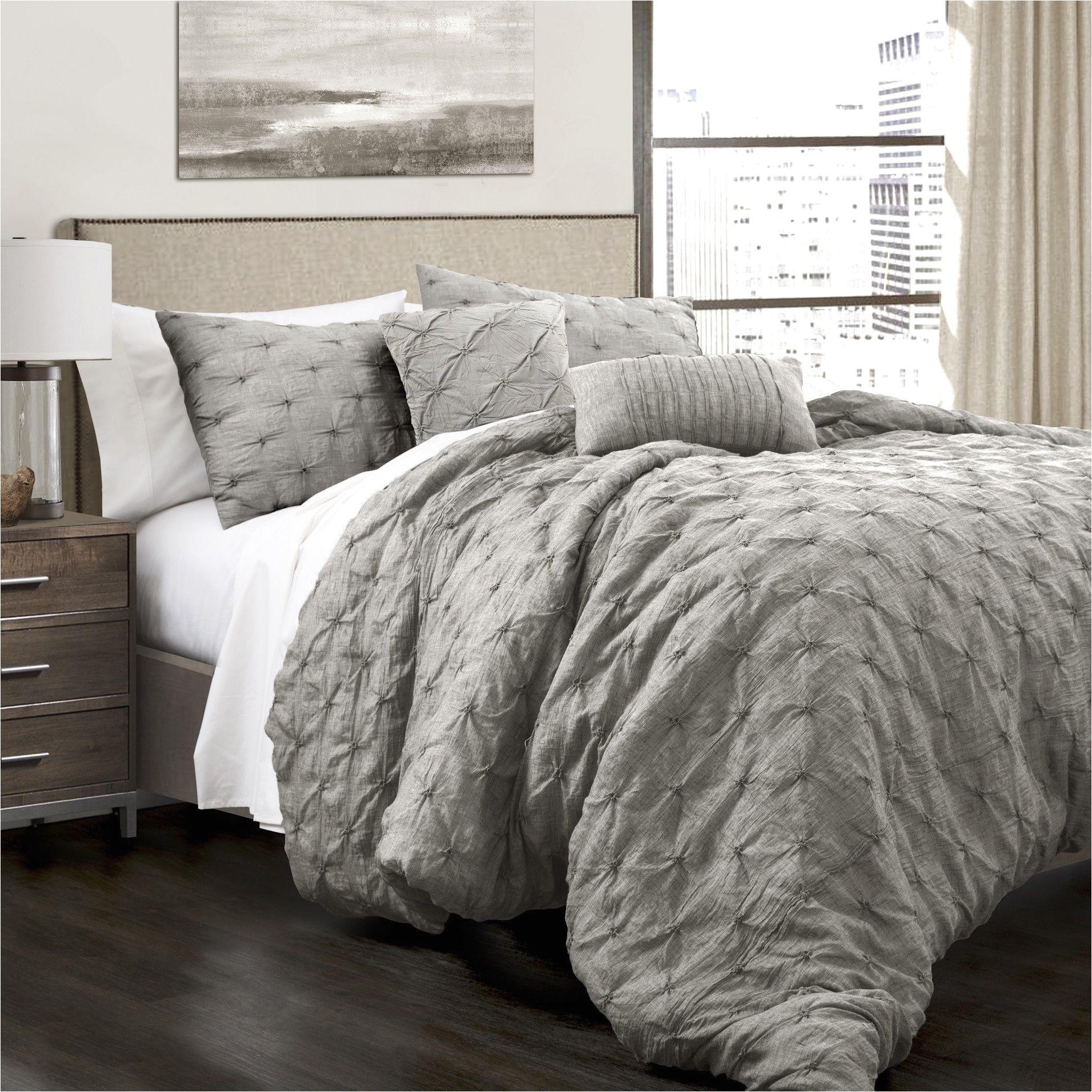 Lush Decor Belle 4 Piece Comforter Set White