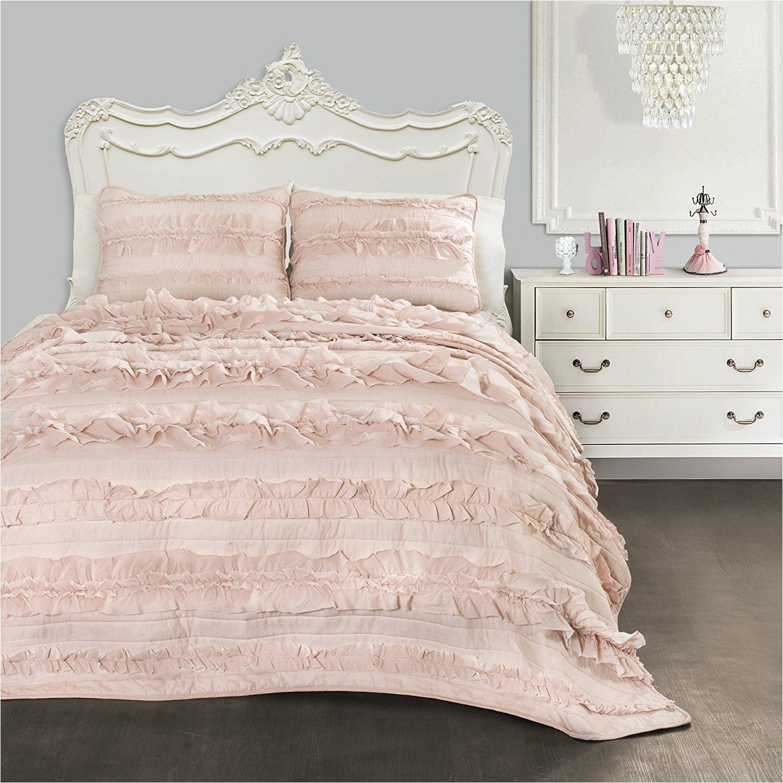 Lush Decor Belle 4 Piece Comforter Set White Luxury