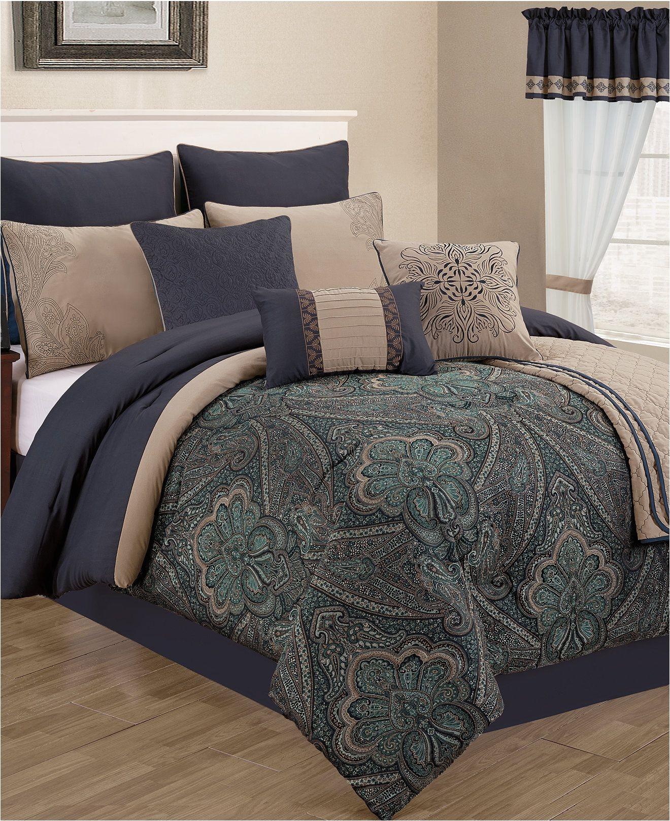 bradbury 22 piece comforter sets bed in a bag bed bath macy s