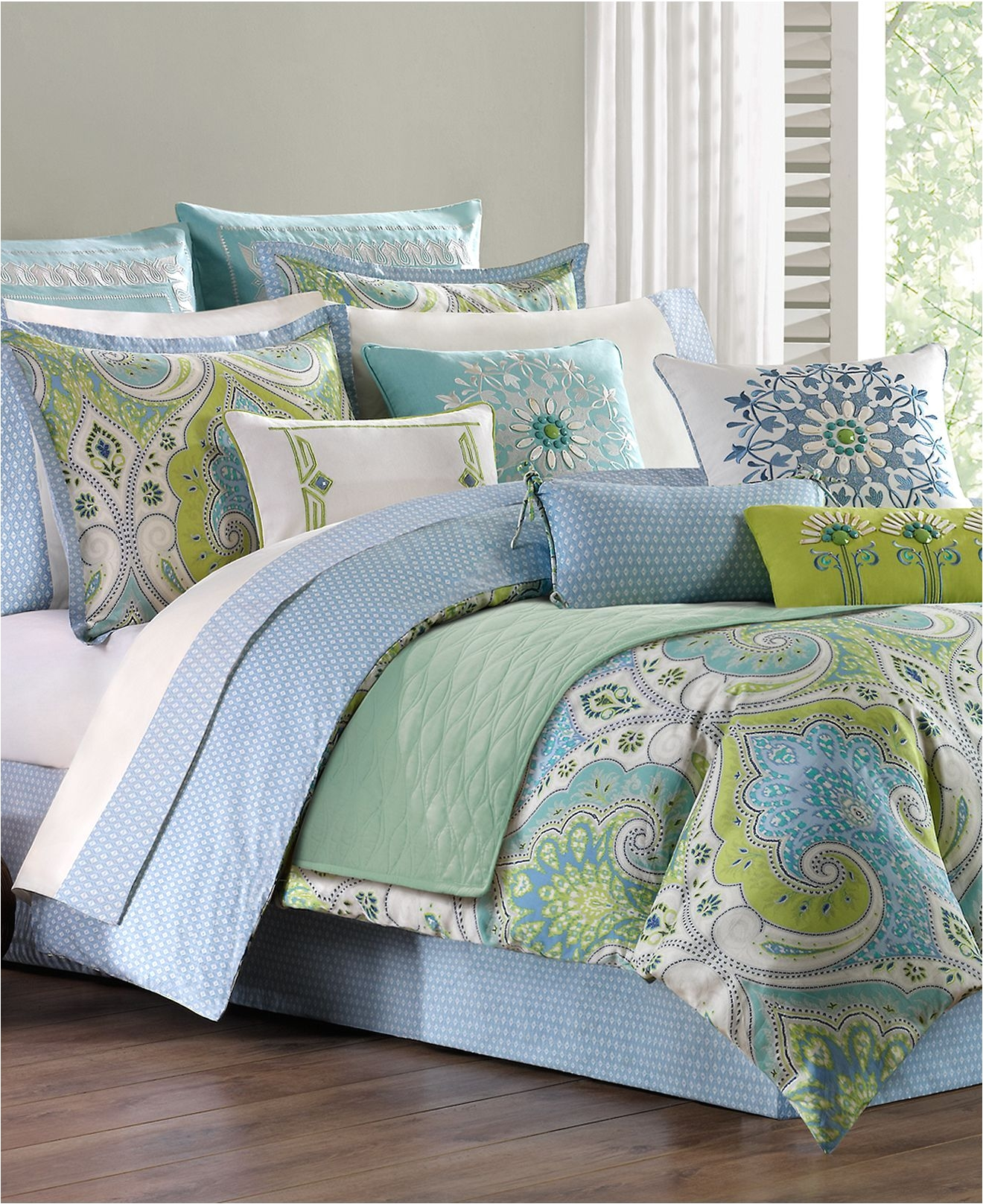 Macys Bedroom Comforter Sets Echo Sardinia Reversible Bedding Collection 300 Thread Count 100